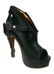 DORGU Black Zipper Heels
