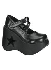 DYNAMITE-03 Black Platform Shoes