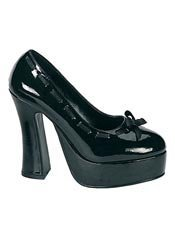 DOLLY-47 Black Patent Heels