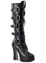 ELECTRA-2042 Black Buckle Boots