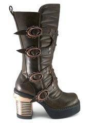 HARAJUKU Brown Steampunk Boots