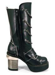 KRULL black platform boots