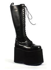 MEGA-602 Black Platform Boots