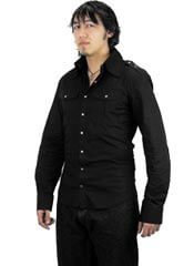 Odin Mens Black Poplin Shirt