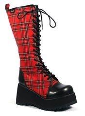 SCENE-100 Black PU Boots