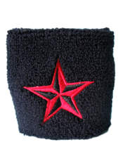Black and Red Nautical Star Wristband