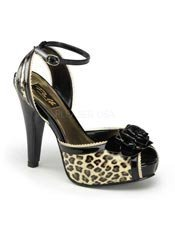 BETTIE-06 Cheetah Platform Heels