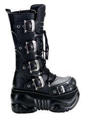 BOXER-205 Buckle Platform Boots