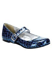 DAISY-04 Blue Cheetah Shoes