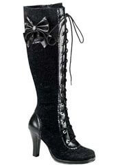 GLAM-240 Black Lace Boots