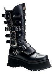 RAVAGE-302 Black Platform Boots