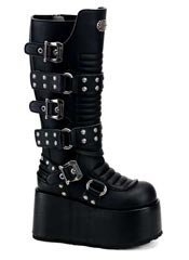 RIPSAW-520 Black Buckle Boots
