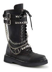 RIVAL-315 Black Chain Boots