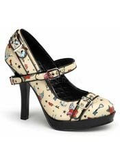 SECRET-14 Tattoo Print Pumps