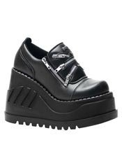 STOMP-16 Black Platform Shoes - Clearance