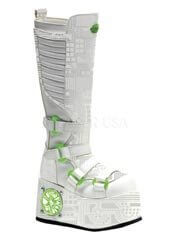 TECHNO-856UV White Cyber Boots