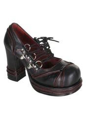 VAMPIRE-03 Red Laceup Shoes
