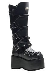WICKED-732 Black Platform Boots - Clearance