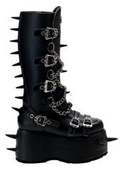 WICKED-808 Black Platform Boots - Clearance