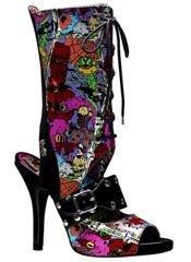 ZOMBIE-103 Black Graffiti Boots
