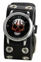 Black Eyelet Skull Watch