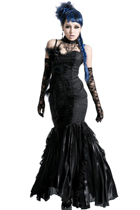 Peacock Black Feather Dress