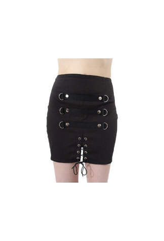 Anarchy Eye Canvas Skirt