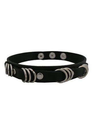 71C Leather Choker