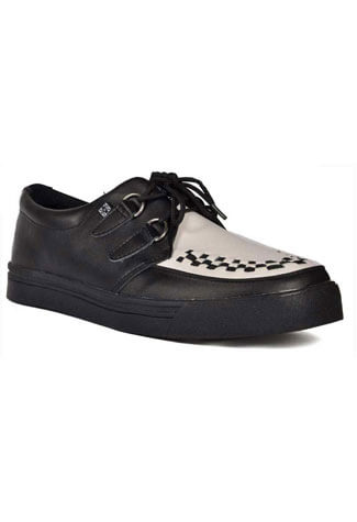 T.U.K. White Black Creeper Sneakers - Clearance
