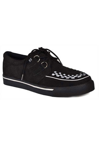 T.U.K. Black White Creeper Sneakers