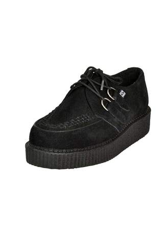 T.U.K. Black Suede Low Creepers
