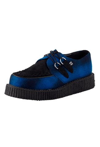 T.U.K. Blue Black Penplaid Low Creepers