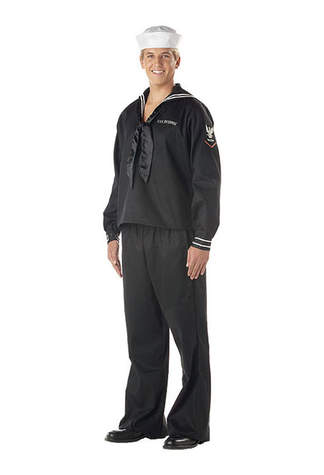 Mens Navy Costume