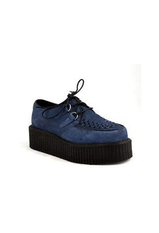 CREEPER-402S Blue Suede Creeper Shoes