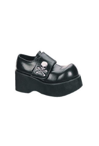 DANK-108 Black Skull Shoes