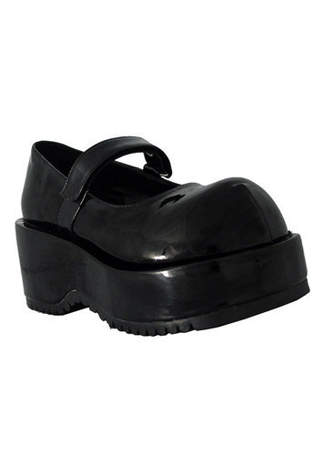 DOLLY-01 Black Patent Shoes