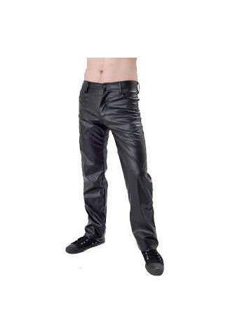Leather look PVC Button Fly Jean