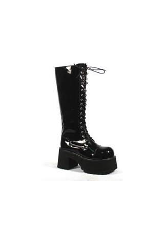 RANGER-302 Black Patent Boots