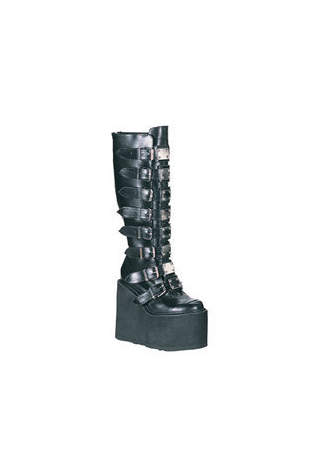 SWING-815 Black Metal Boots