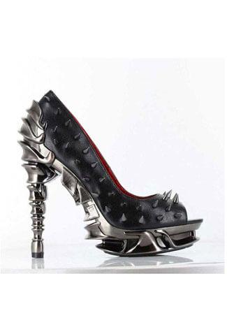 TALON Black Spike Stilettos