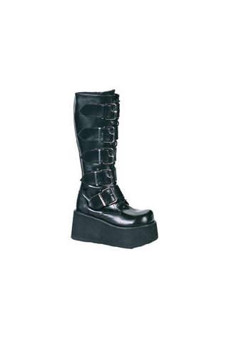 TRASHVILLE-518 Platform Buckle Boots