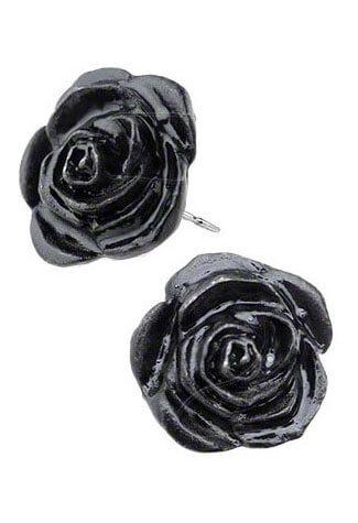 Black Rose Earing Studs