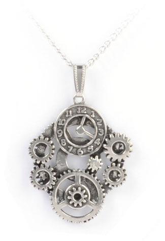 Clockwork Steam Pendant Necklace