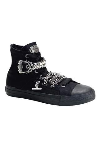 DEVIANT-110 Black Sneaker Boots