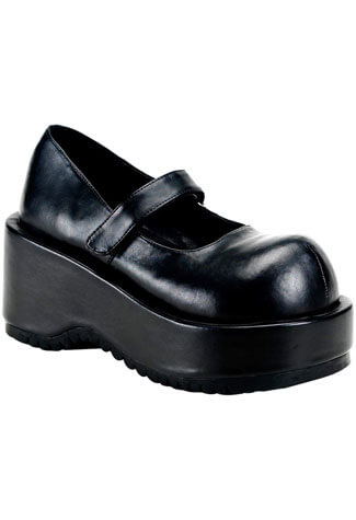 DOLLY-01 Black PU Shoes