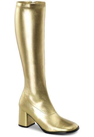GOGO-300 Gold PU Boots