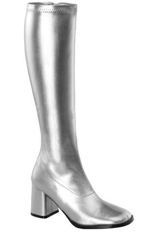 GOGO-300 Silver Gogo Boots