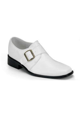 LOAFER-12 White Loafer Shoes