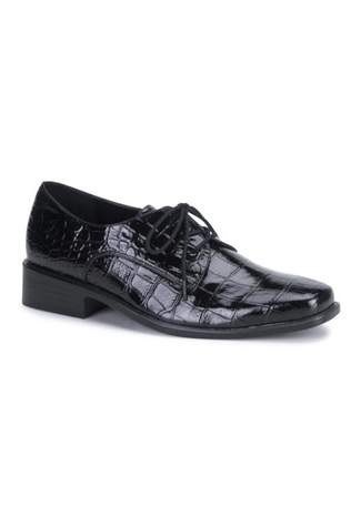 LOAFER-17 Black Alligator Shoes