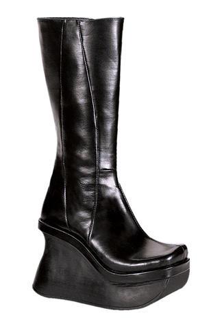 PACE-100 Black Platform Boots - Clearance